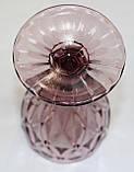 Стеклянный бокал, светло-вишневый, 200 мл, фото 3