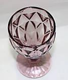 Стеклянный бокал, светло-вишневый, 200 мл, фото 2