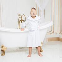 Халат детский махровый с капюшоном для мальчика DANIEL 3-5 лет.