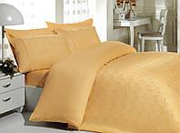Бамбуковое постельное белье полуторное 160х220 Mariposa de luxe Tencel жаккард OTTOMAN GOLD V6