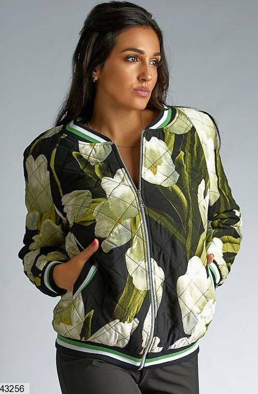 Куртка-бомбер весна-осень на легком синтепоне большие размеры: 50-62