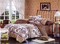Семейное постельное белье 150х215х2 Goldentex сатин, S-0069 коричневый.