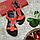 Босоножки женские из натуральной кожи на низком каблуке красные 36, фото 4