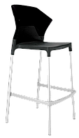 Барный стул Papatya Ego-S черное сиденье, верх черный, фото 1