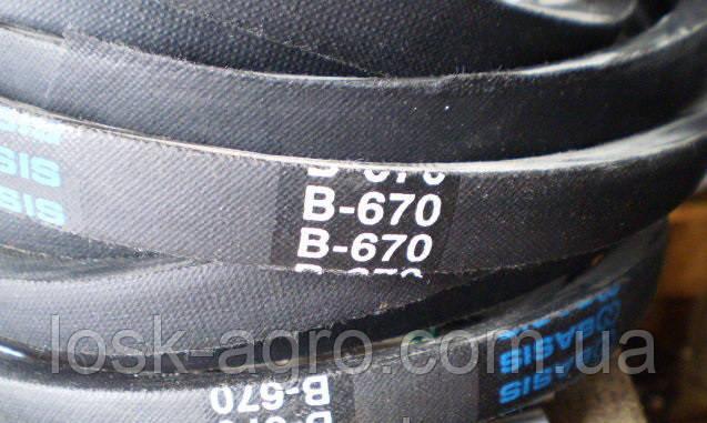 Ремень приводной клиновый B-670 Б-670