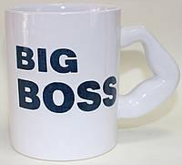 Кружка керамическая, белая, Big Boss, 500 мл, фото 1