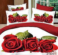 Семейное постельное белье сатин LOVE YOU Любовь