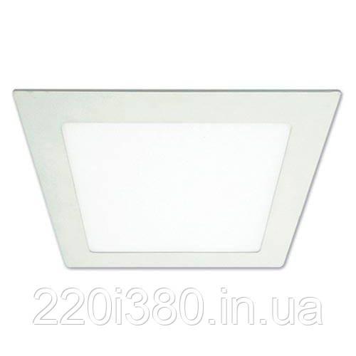 Светильник AL502 20W квадрат  встраиваемый 1600Lm 5000K 240*240*19mm FERON