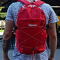 Рюкзак Supreme красные. Живое фото. Топ качество! (Реплика ААА+)