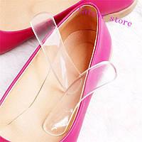 Силиконовые прокладки на задники обуви! Гелевые стельки подушечки накладки антискользящие!