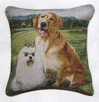 Декоративные наволочки 45х45 2шт. Arya Dogs, хлопок/полиэстер, гобелен собачки.