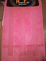 Набор ковриков для ванной и туалета 50*80 см Розовый