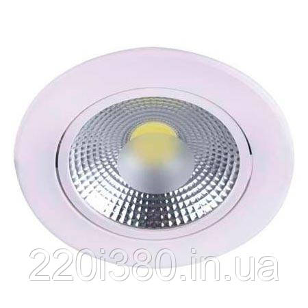 Светильник AL700 COB 10W круг встраиваемый , белый  800Lm 4000K 110*45mm FERON