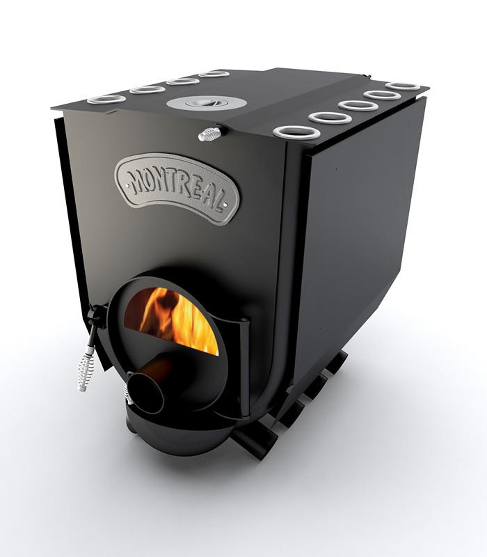 Піч опалювальна варильна Новаслав Montreal Lux ПО-Б 02 ЧК.З чавунною конфоркою і склом