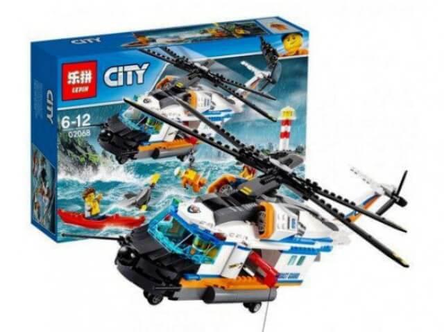 Конструктор CITY Сверхмощный спасательный вертолёт 02068 LEPIN