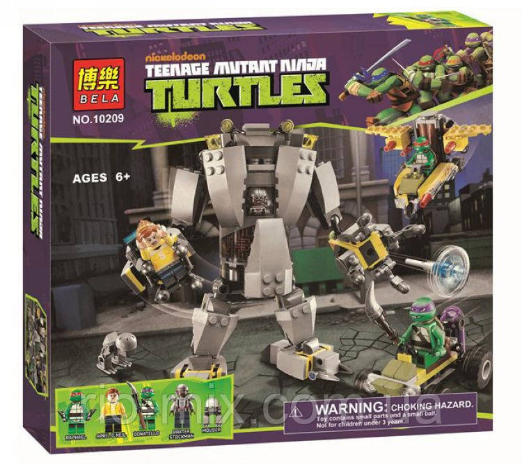 Конструктор Ninja Turtles 10209 Нападение робота Бакстера, фото 1