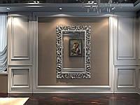 Зеркало резное в серебряной раме MIRROR 009 (S), фото 1
