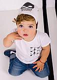 Трикотажная шапка для мальчика с завязками ДЕМБОХАУС р -ры 44, фото 3