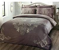 Комплект постельного белья 200х220 TAC DELUX-SATIN LUMINA V04 фиолетовый