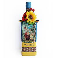 Интерьерная бутылка в украинском стиле Украинский сувенир ручная работа