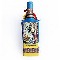 Украинский сувенир Подарочная бутылка в украинском стиле Ручная работа