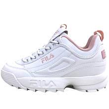 Кроссовки женские Fila Disruptor 2 (белые-розовые) Top replic