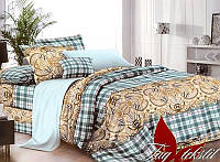 Полуторный комплект постельного белья TAG поликоттон 3D XHY589