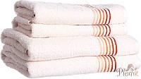Полотенце Diandra Line 50х90 молочный/оранжевый