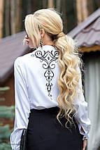 Женская белая блузка с черным узором (1828 svt), фото 2