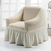 Чехол на кресло Arya Burumcuk кремовый