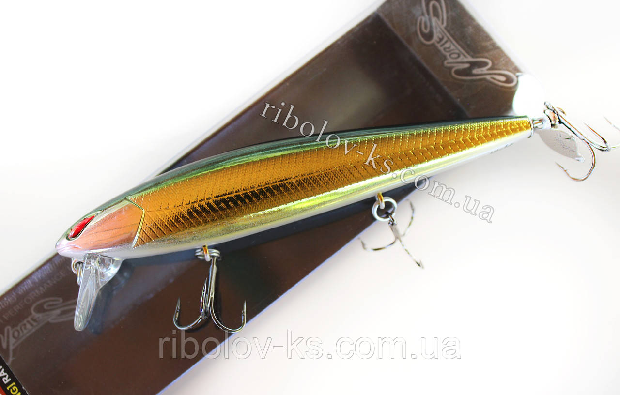 Воблер Nories laydown minnow Wake 110 prop #br-221