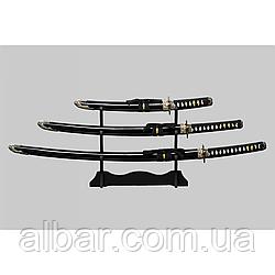 Самурайский меч катана 3 в 1.Подставка идет в комплекте.