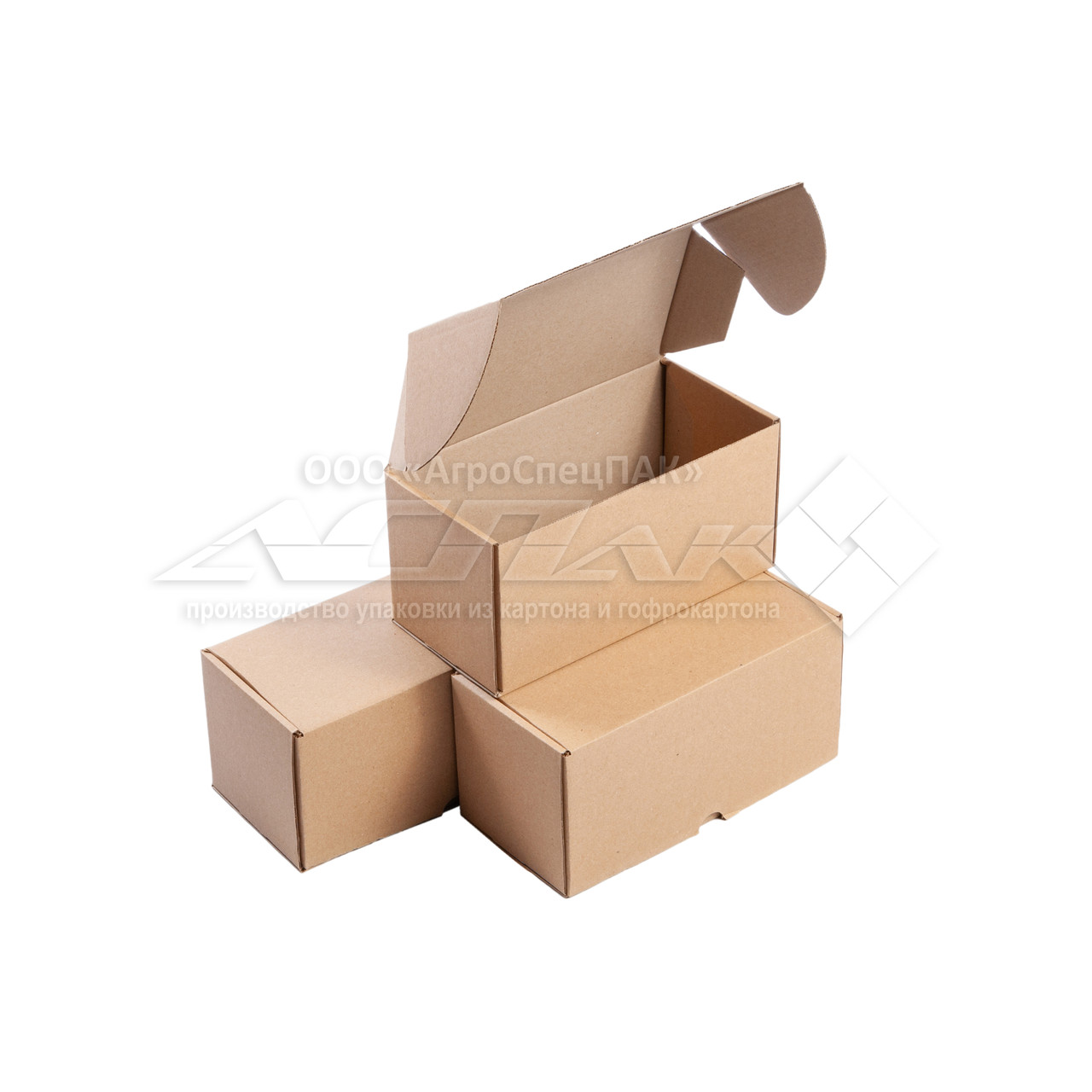 Картонная коробка самосборная 200х100х100 бурая