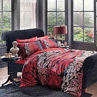 Комплект постельного белья 200х220 TAC DELUX-SATIN VALENCIA черный