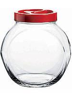 Банка стеклянная Pasabahce Bella 1500мл с пластиковой крышкой