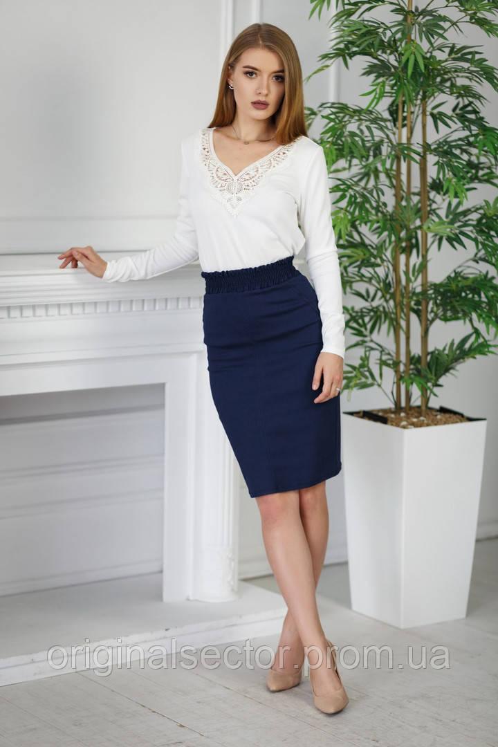 5d4b6a9eb8b Женская юбка карандаш с широким поясом - резинкой - интернет-магазин