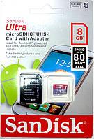 Карта памяти microSD + SD 8 Гб class 10