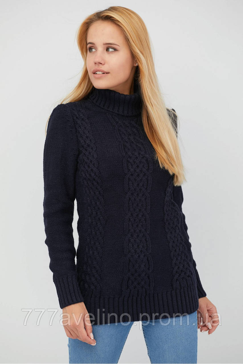Женский свитер шерстяной теплый