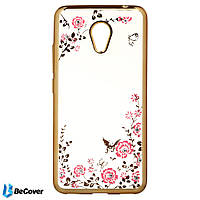 Панель Flowers Series BeCover для Meizu M5c Gold (701762)