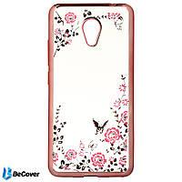Панель Flowers Series BeCover для Meizu M5c Pink (701763)