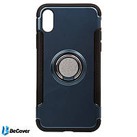 Magnetic Ring Stand BeCover для Apple iPhone X Blue (701782)