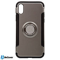 Magnetic Ring Stand BeCover для Apple iPhone X Grey (701783)