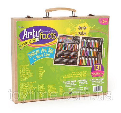 Набор для рисования Арти Фактc на 131 шт. в кейсе / Darice Artyfacts Portable Studio 131 pcs Deluxe Art Set