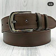 Мужской кожаный ремень 45 мм коричневый