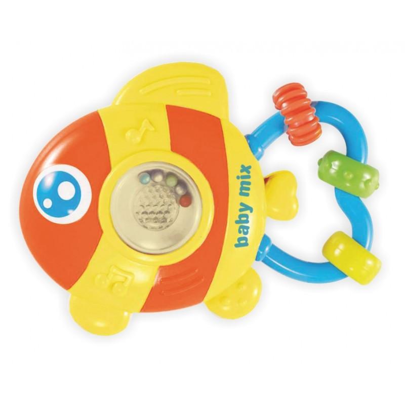 """Погремушка для ребенка с музыкой baby mix """"Рыбка"""""""