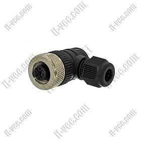 Разъём MicroDetector CL12/0H-00C, M12, 5-pin, угловой 90°