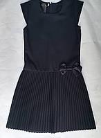 Детскийшкольный сарафандля девочки 7-9 лет, темно-серый