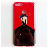 TPU чехол Magic Girl со стразами для Xiaomi Mi 5X / Mi A1 (Красный / Синяя роза)
