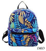 Женский мини-рюкзак с пальмовыми ветками, фото 1