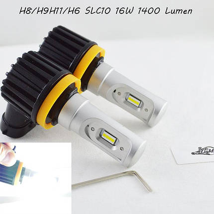 LED лампы в головной свет серии SLC10  Цоколь H11/H8/H9, 16W, 2400 Люмен/Комплект, фото 2
